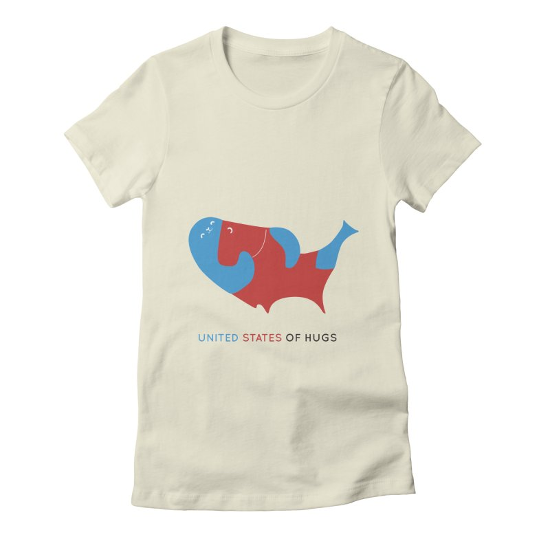 United States of Hugs Women's T-Shirt by agrimony // Aaron Thong