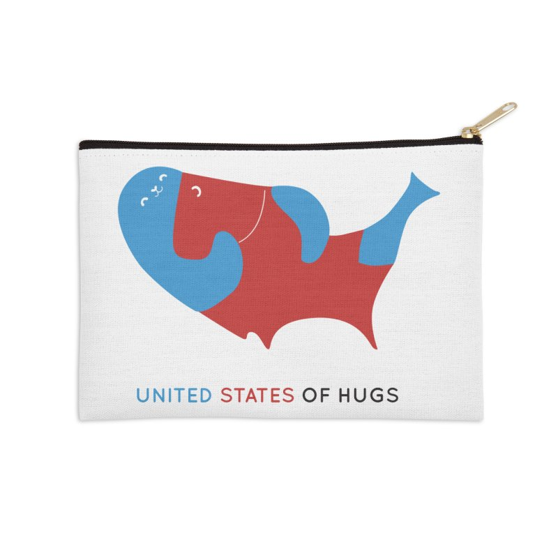 United States of Hugs Accessories Zip Pouch by agrimony // Aaron Thong