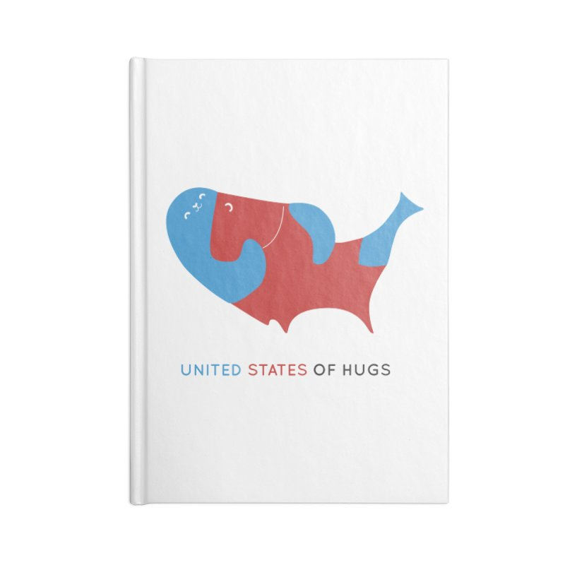 United States of Hugs Accessories Notebook by agrimony // Aaron Thong
