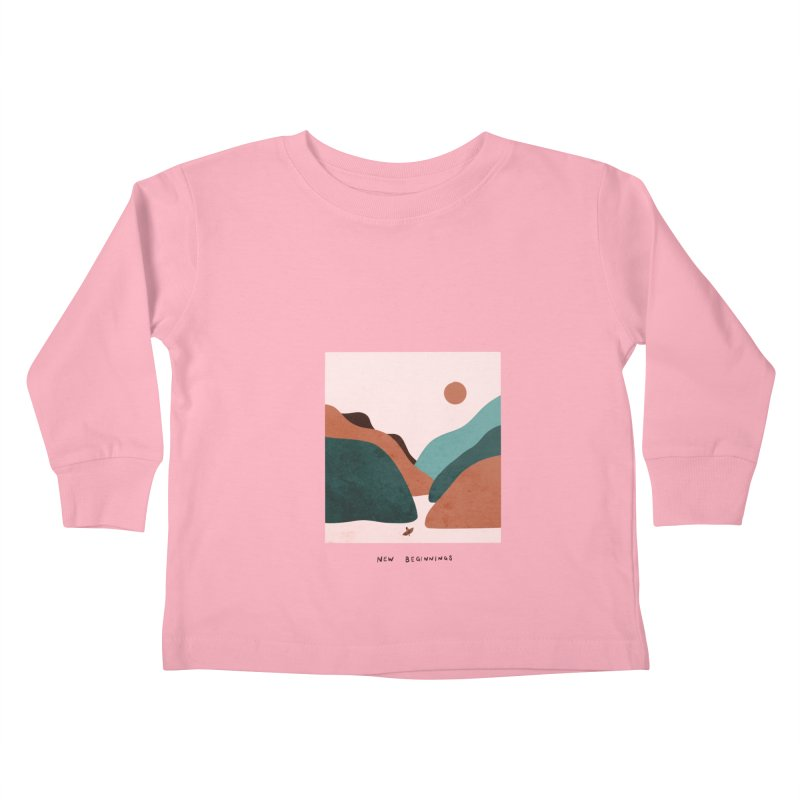 New Beginnings Kids Toddler Longsleeve T-Shirt by agrimony // Aaron Thong