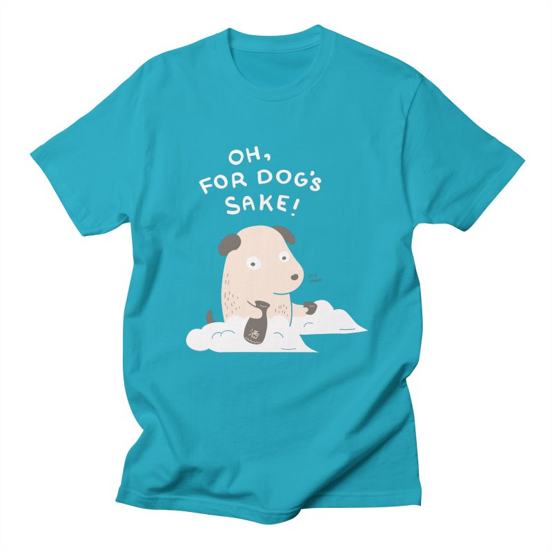 For Dog's Sake Men's Regular T-Shirt by agrimony // Aaron Thong