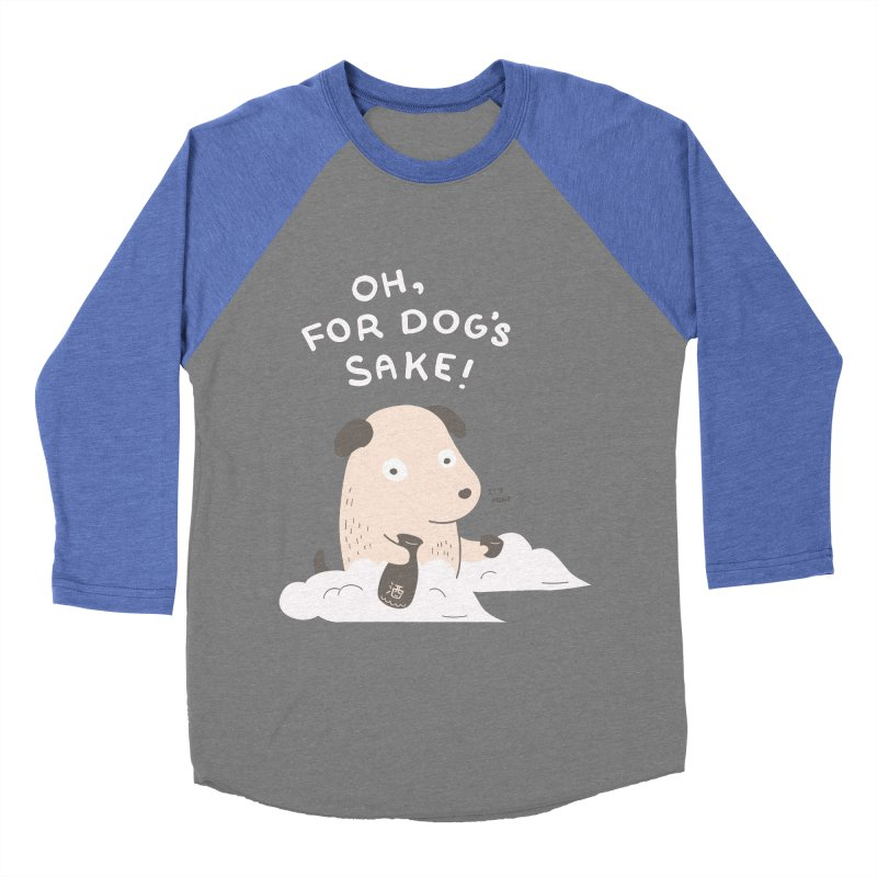 For Dog's Sake Women's Baseball Triblend T-Shirt by agrimony // Aaron Thong