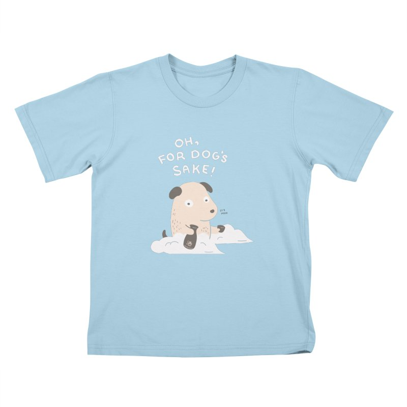 For Dog's Sake Kids T-Shirt by agrimony // Aaron Thong
