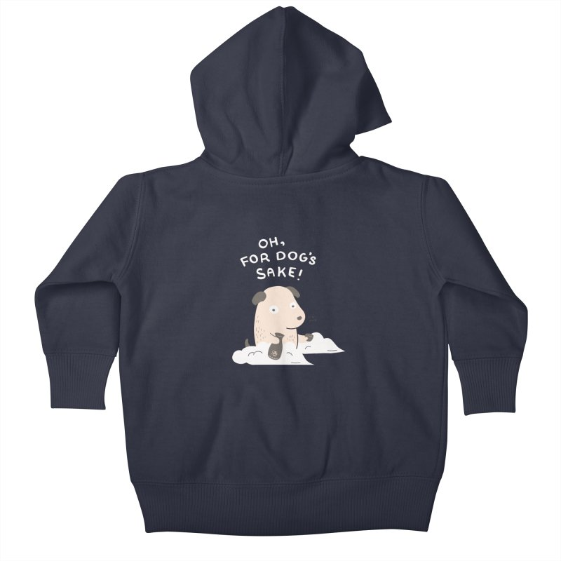 For Dog's Sake Kids Baby Zip-Up Hoody by agrimony // Aaron Thong