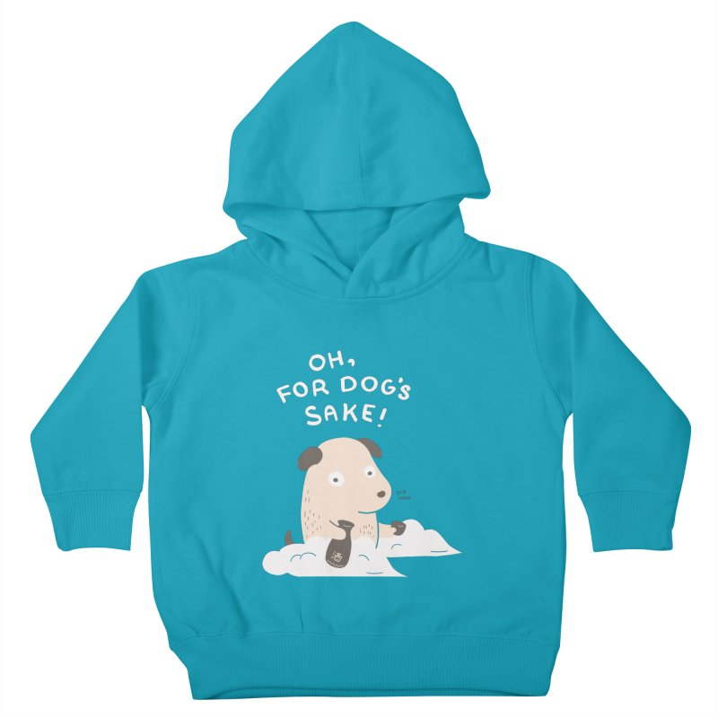 For Dog's Sake Kids Toddler Pullover Hoody by agrimony // Aaron Thong