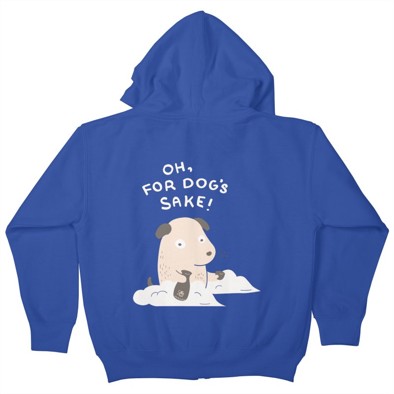 For Dog's Sake Kids Zip-Up Hoody by agrimony // Aaron Thong