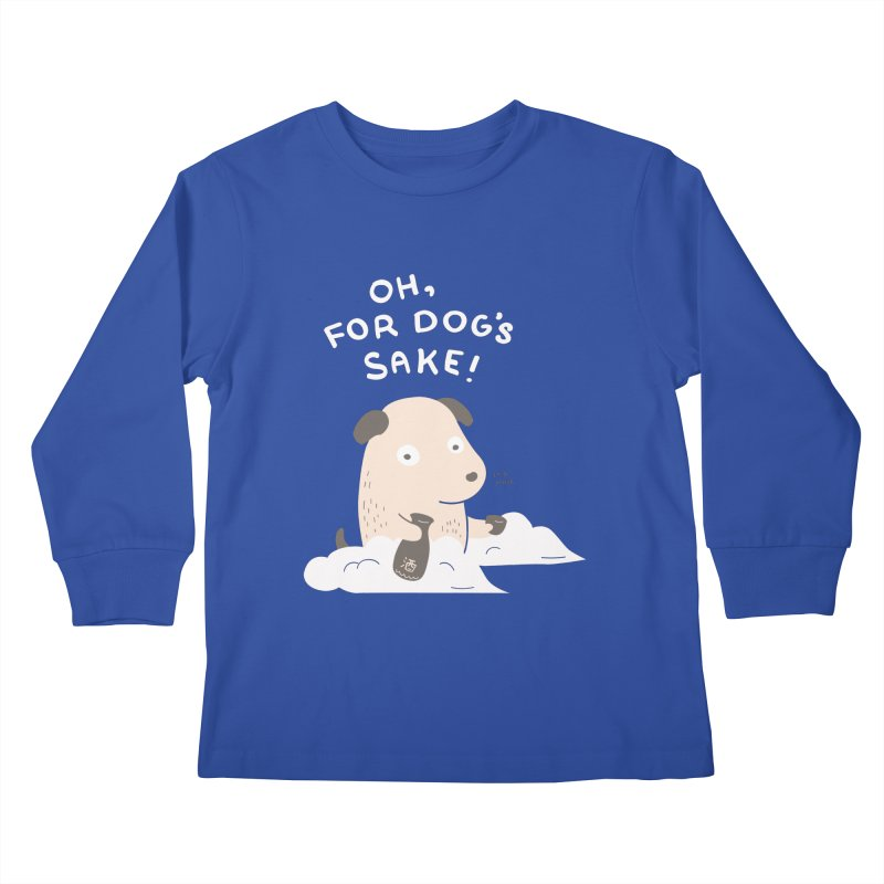 For Dog's Sake Kids Longsleeve T-Shirt by agrimony // Aaron Thong