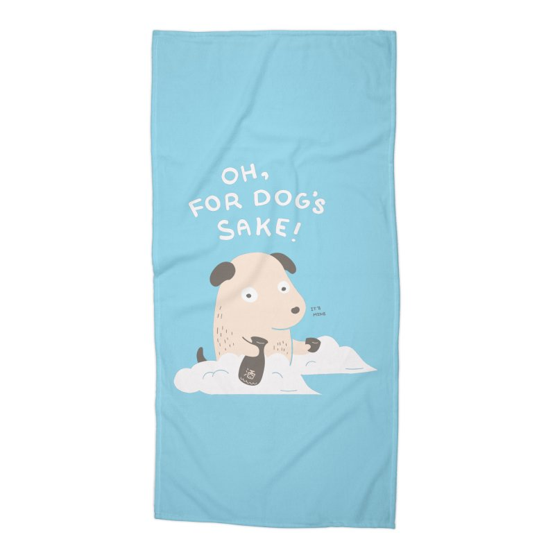 For Dog's Sake Accessories Beach Towel by agrimony // Aaron Thong