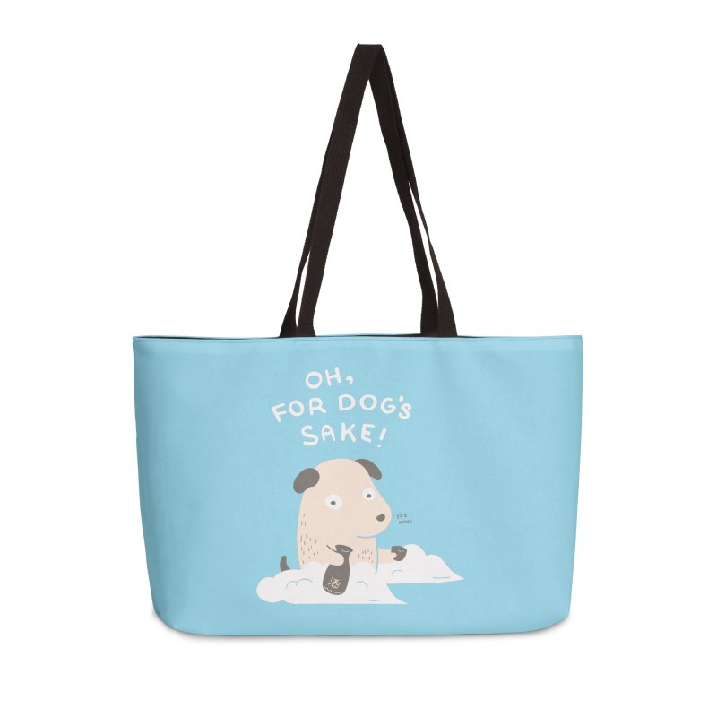 For Dog's Sake Accessories Weekender Bag Bag by agrimony // Aaron Thong