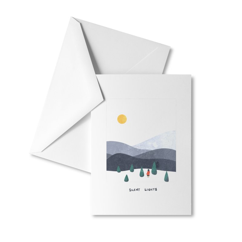 Silent Lights Accessories Greeting Card by agrimony // Aaron Thong