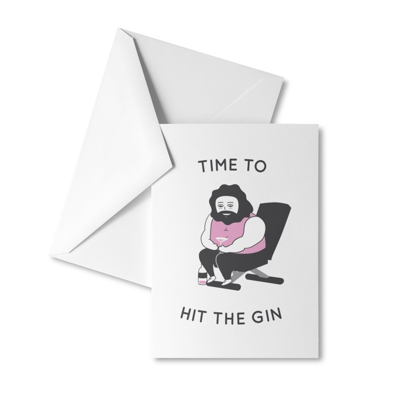 Time to Hit the Gin Accessories Greeting Card by agrimony // Aaron Thong