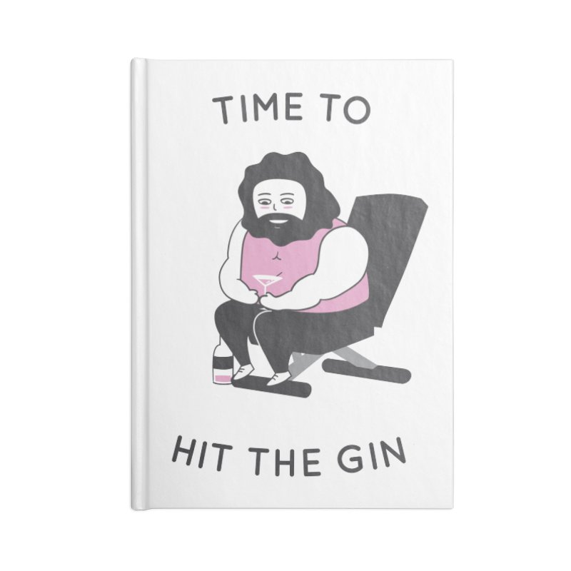 Time to Hit the Gin Accessories Notebook by agrimony // Aaron Thong
