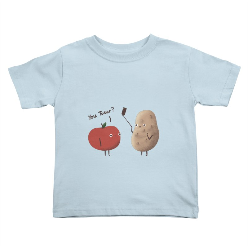 You Tuber Kids Toddler T-Shirt by agrimony // Aaron Thong