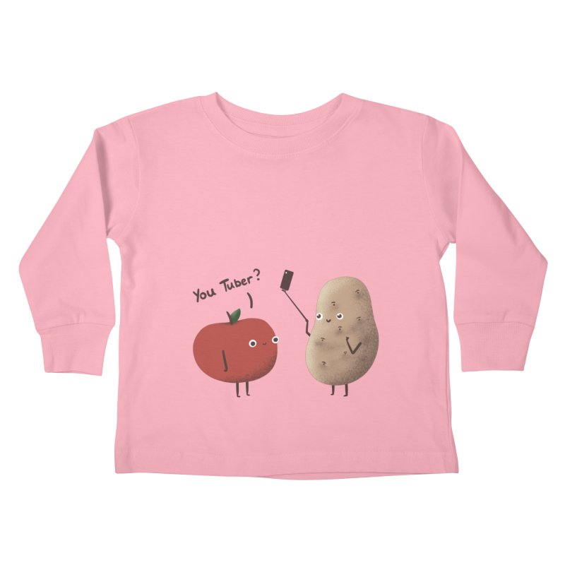 You Tuber Kids Toddler Longsleeve T-Shirt by agrimony // Aaron Thong
