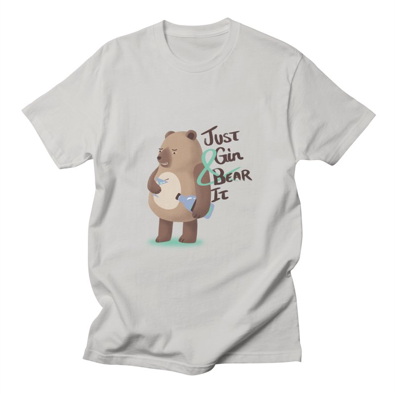 Just Gin and Bear it Men's T-Shirt by agrimony // Aaron Thong