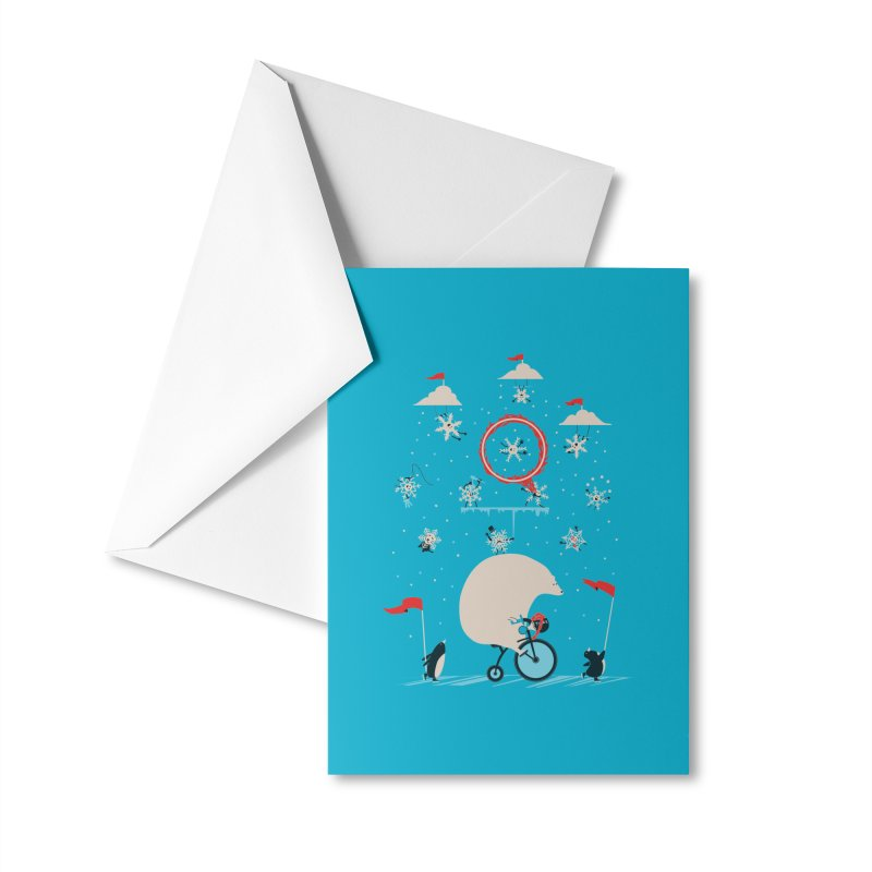 Arctic Circus Accessories Greeting Card by agrimony // Aaron Thong