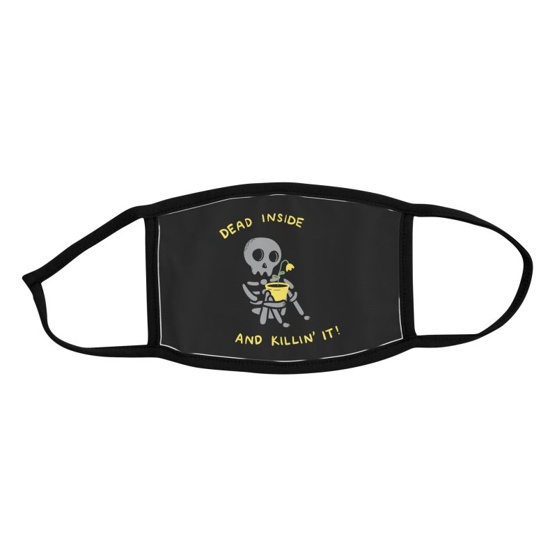 Dead Inside and Killin It Accessories Face Mask by agrimony // Aaron Thong