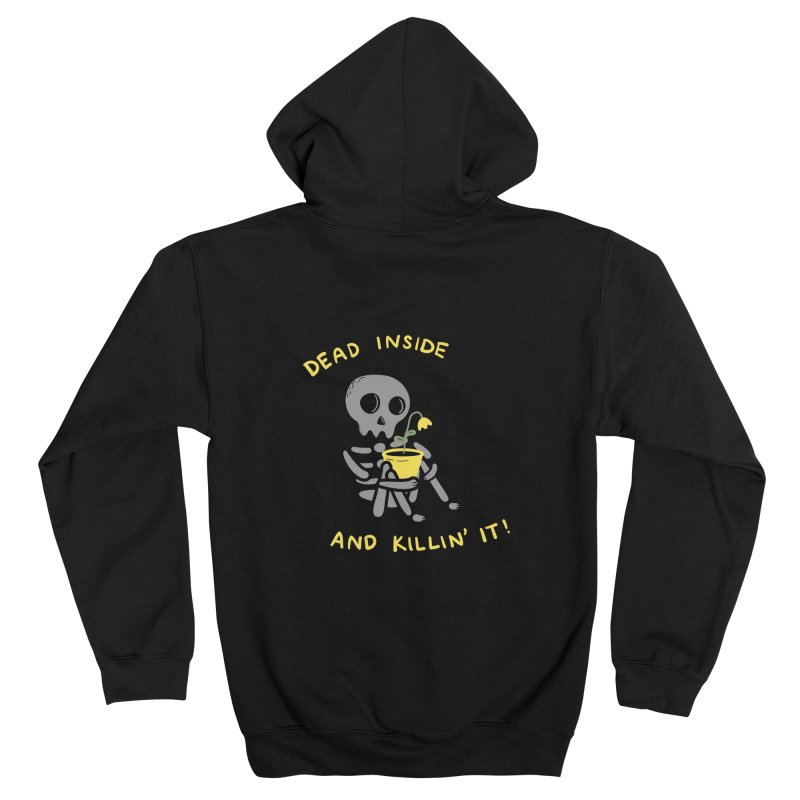 Dead Inside and Killin It Men's Zip-Up Hoody by agrimony // Aaron Thong