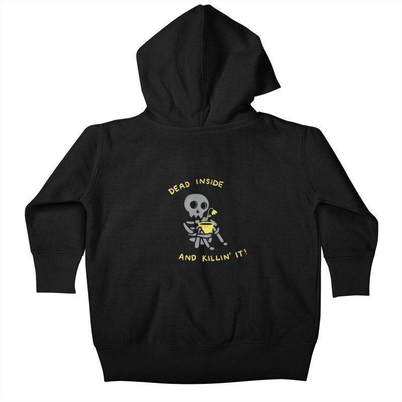 Dead Inside and Killin It Kids Baby Zip-Up Hoody by agrimony // Aaron Thong