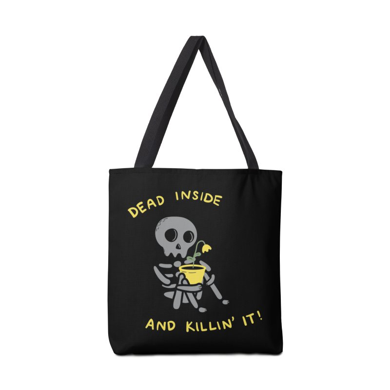 Dead Inside and Killin It Accessories Bag by agrimony // Aaron Thong