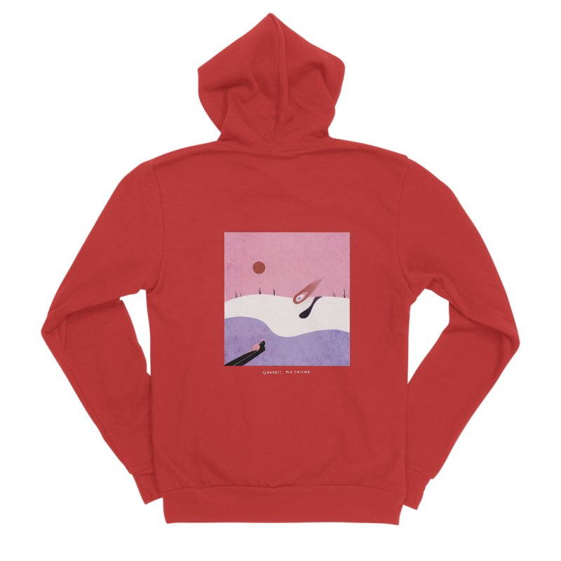 Goodbye, Old Friend Women's Zip-Up Hoody by agrimony // Aaron Thong