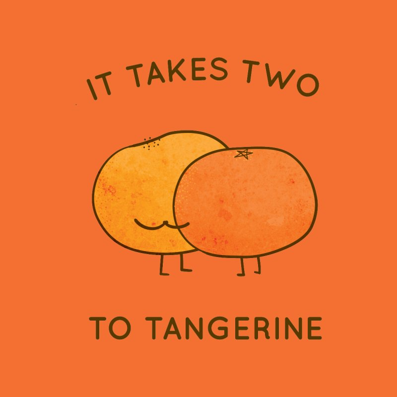 It Takes Two to Tangerine Accessories Greeting Card by agrimony // Aaron Thong