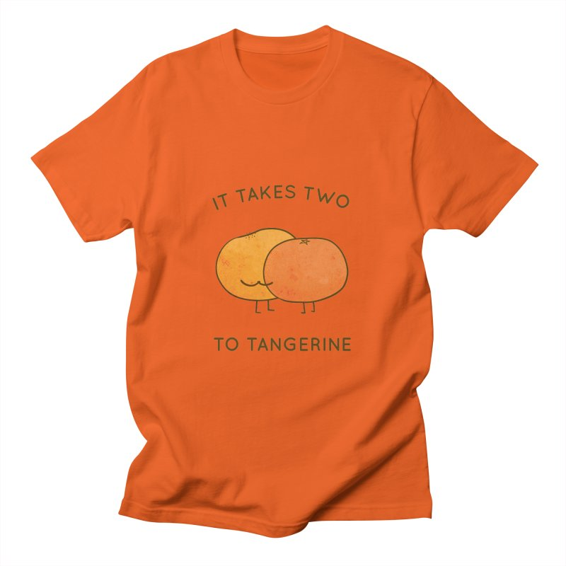 It Takes Two to Tangerine Men's T-Shirt by agrimony // Aaron Thong