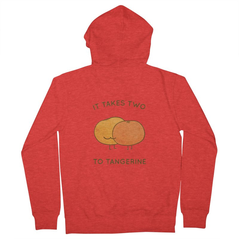 It Takes Two to Tangerine Men's Zip-Up Hoody by agrimony // Aaron Thong
