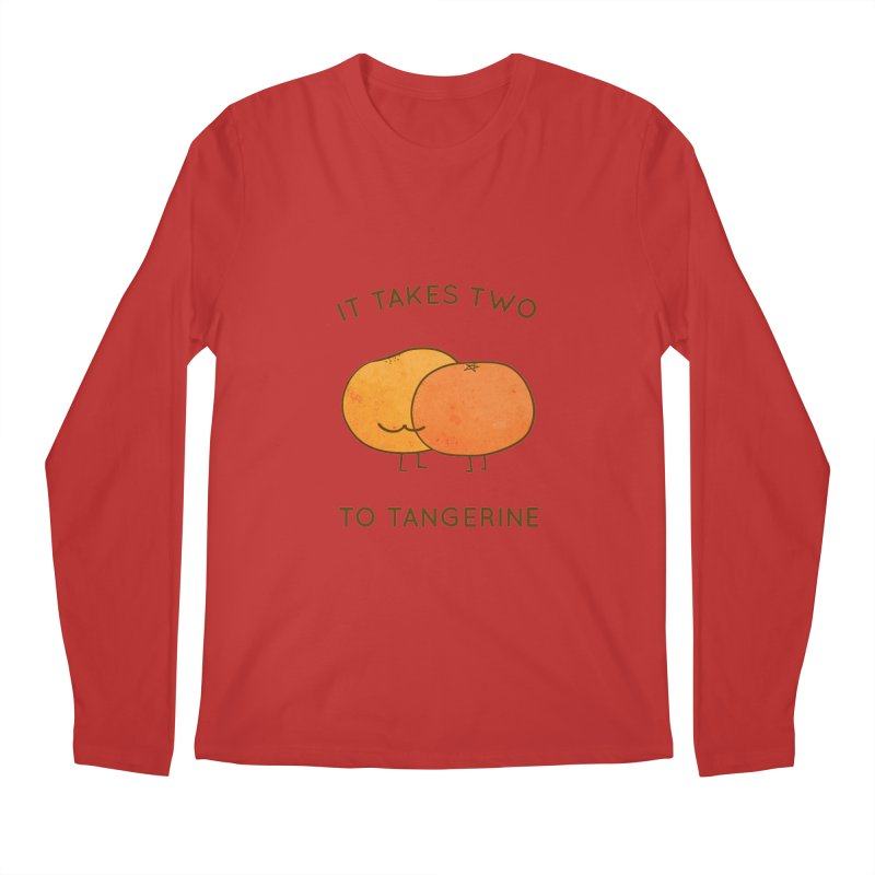 It Takes Two to Tangerine Men's Longsleeve T-Shirt by agrimony // Aaron Thong
