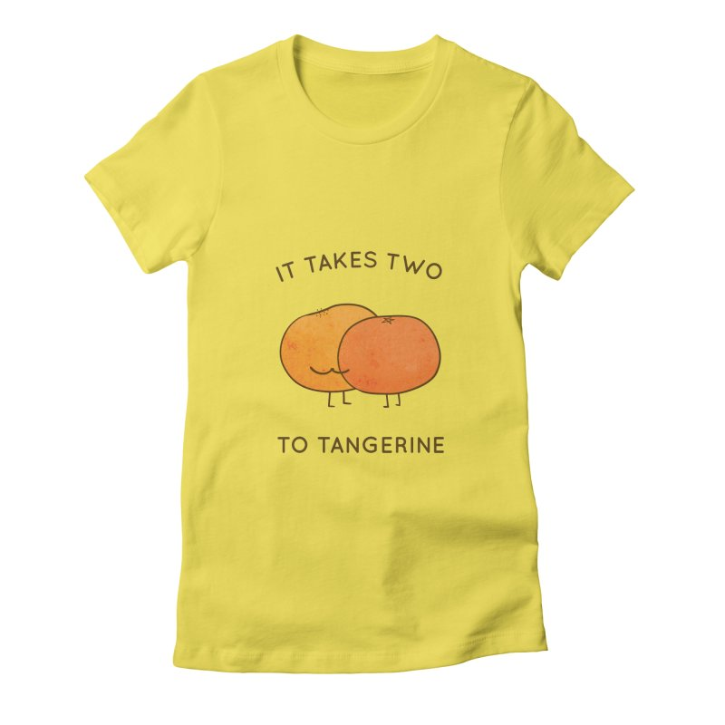 It Takes Two to Tangerine Women's T-Shirt by agrimony // Aaron Thong