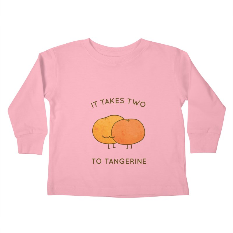 It Takes Two to Tangerine Kids Toddler Longsleeve T-Shirt by agrimony // Aaron Thong