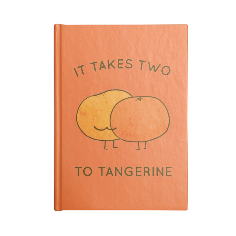 It Takes Two to Tangerine Accessories Notebook by agrimony // Aaron Thong