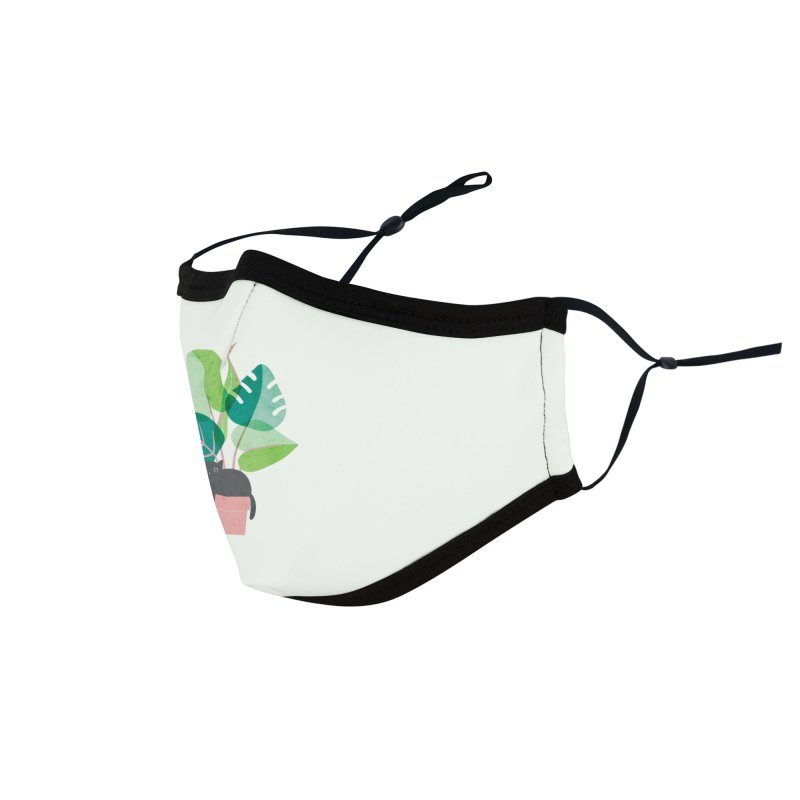 Monstera Kitty Accessories Face Mask by agrimony // Aaron Thong