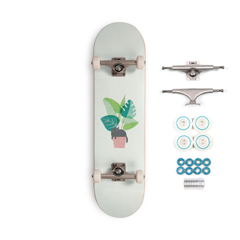 Monstera Kitty Accessories Skateboard by agrimony // Aaron Thong