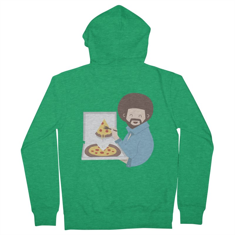 The Joy of Pizza Men's French Terry Zip-Up Hoody by agrimony // Aaron Thong