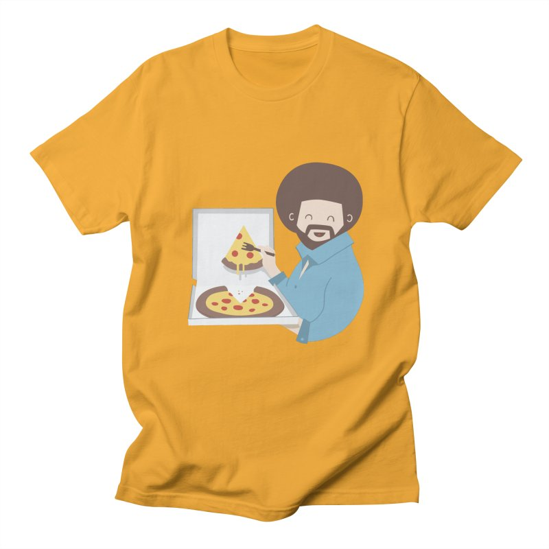 The Joy of Pizza Men's T-Shirt by agrimony // Aaron Thong