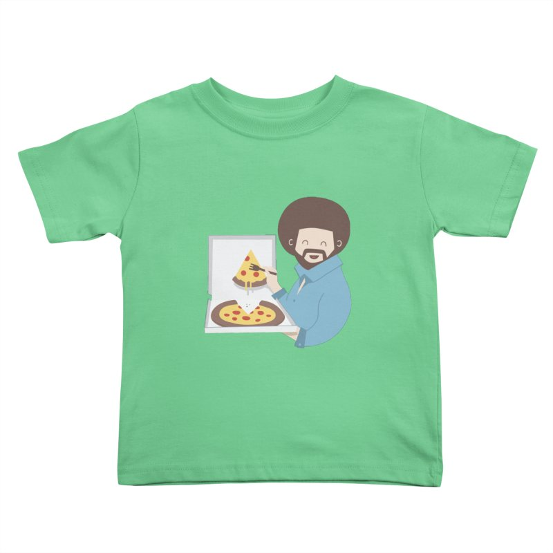 The Joy of Pizza Kids Toddler T-Shirt by agrimony // Aaron Thong