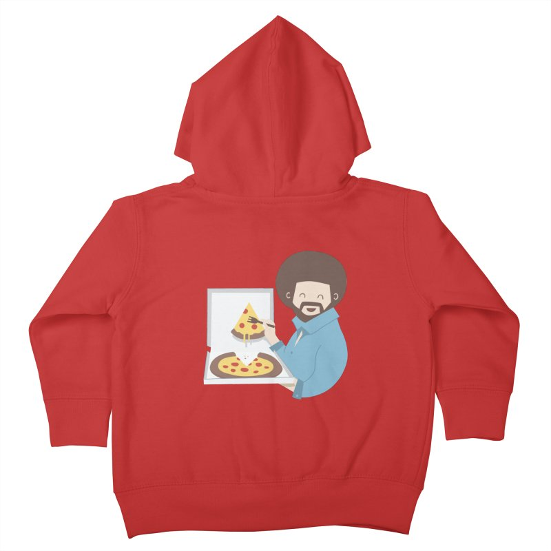 The Joy of Pizza Kids Toddler Zip-Up Hoody by agrimony // Aaron Thong