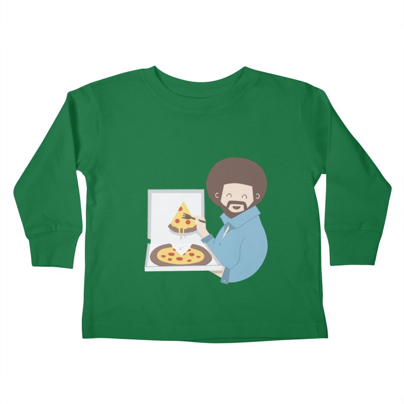 The Joy of Pizza Kids Toddler Longsleeve T-Shirt by agrimony // Aaron Thong