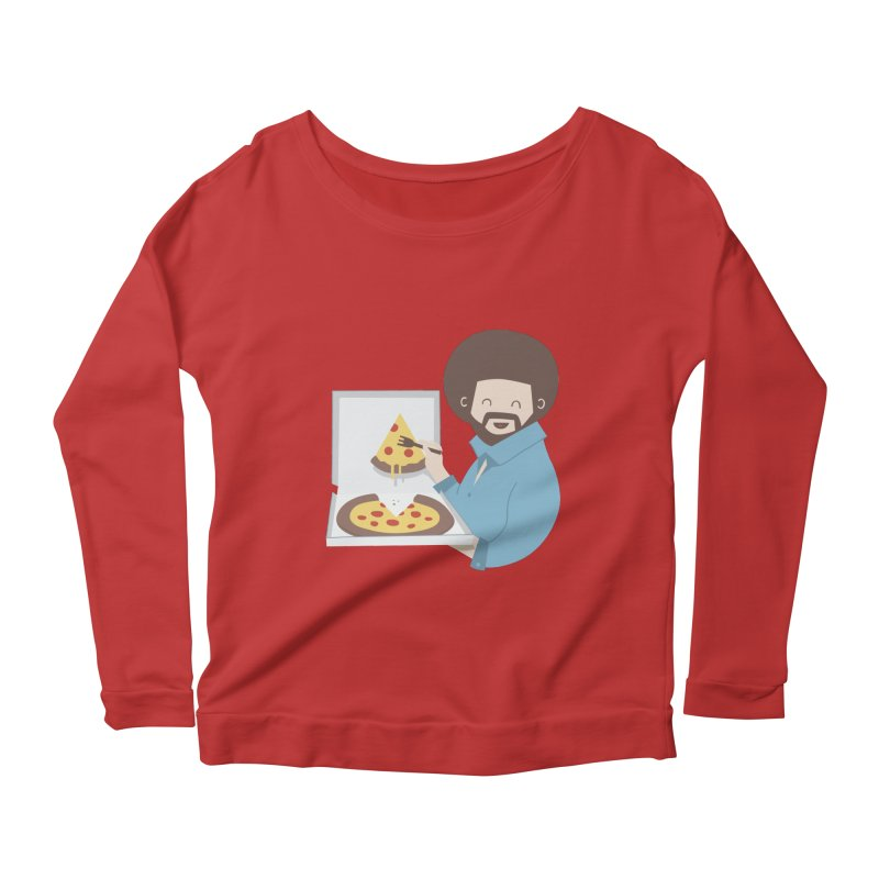 The Joy of Pizza Women's Longsleeve Scoopneck  by agrimony // Aaron Thong
