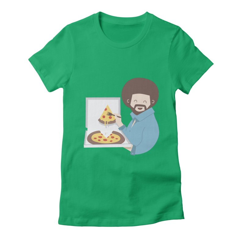 The Joy of Pizza Women's Fitted T-Shirt by agrimony // Aaron Thong