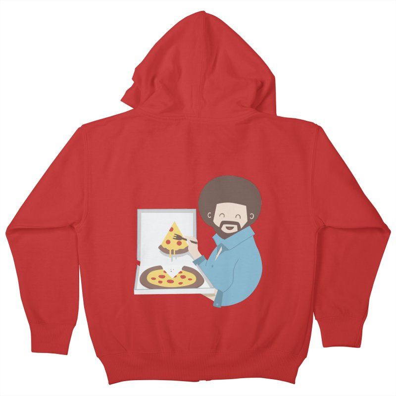 The Joy of Pizza Kids Zip-Up Hoody by agrimony // Aaron Thong