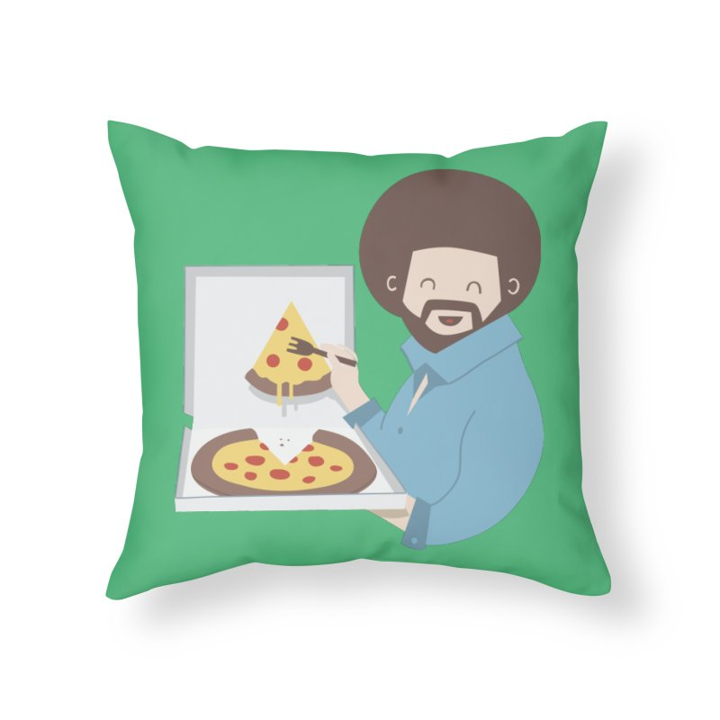 The Joy of Pizza Home Throw Pillow by agrimony // Aaron Thong