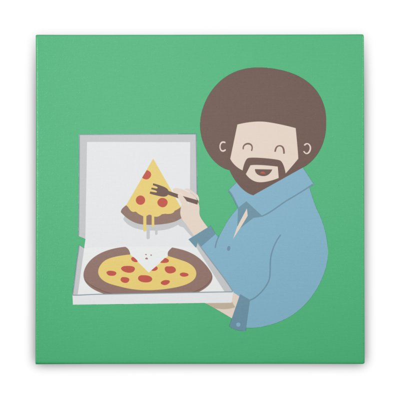 The Joy of Pizza Home Stretched Canvas by agrimony // Aaron Thong