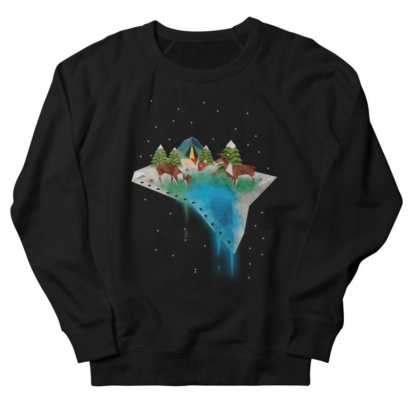 Oragama - Night Men's French Terry Sweatshirt by agrimony // Aaron Thong