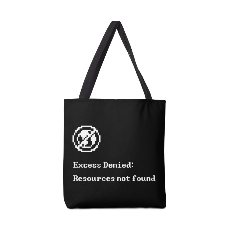 Excess Denied - Black Accessories Bag by agrimony // Aaron Thong