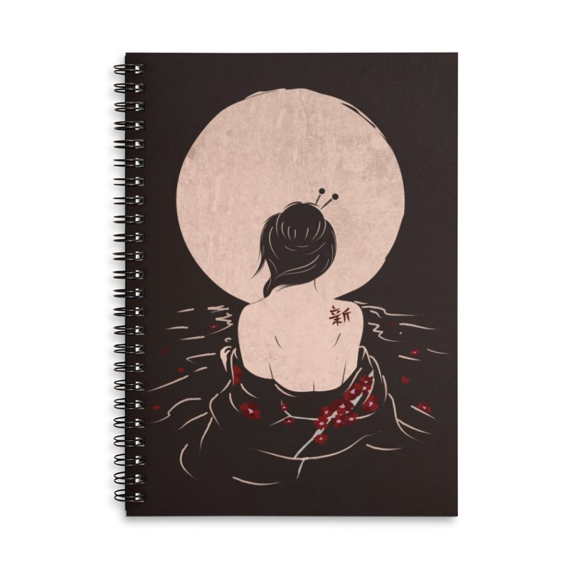 The Beauty and Sadness Accessories Lined Spiral Notebook by agrimony // Aaron Thong
