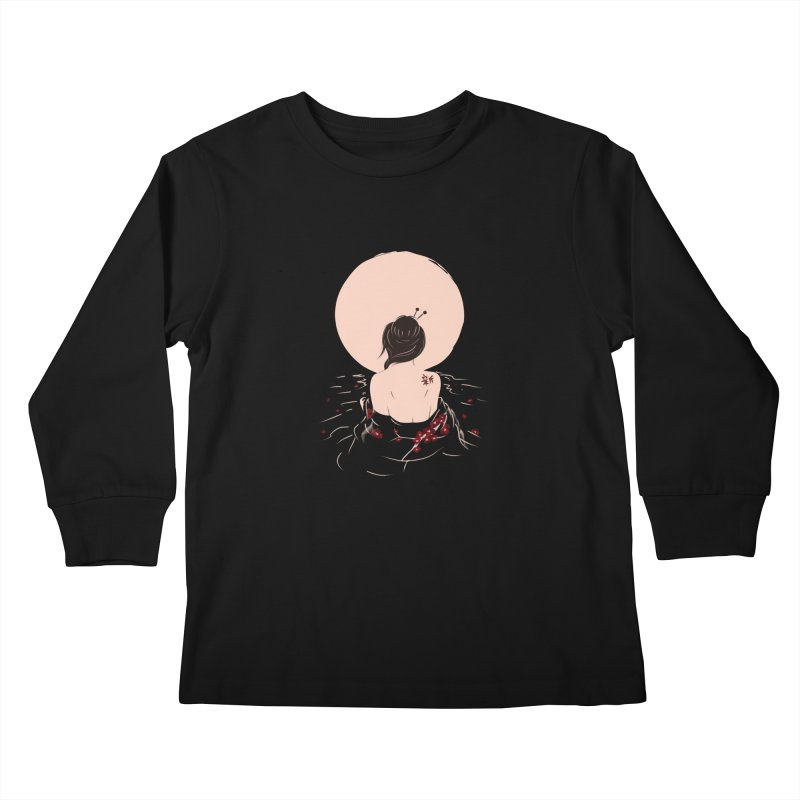 The Beauty and Sadness Kids Longsleeve T-Shirt by agrimony // Aaron Thong