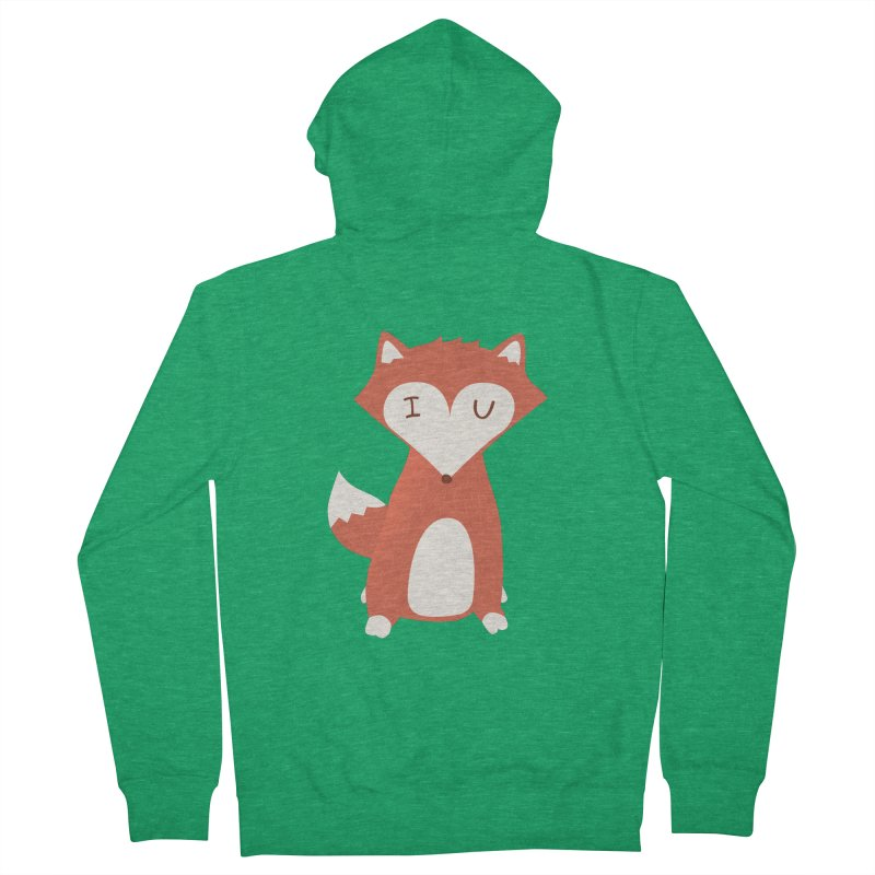 A Foxy Proposal Women's French Terry Zip-Up Hoody by agrimony // Aaron Thong