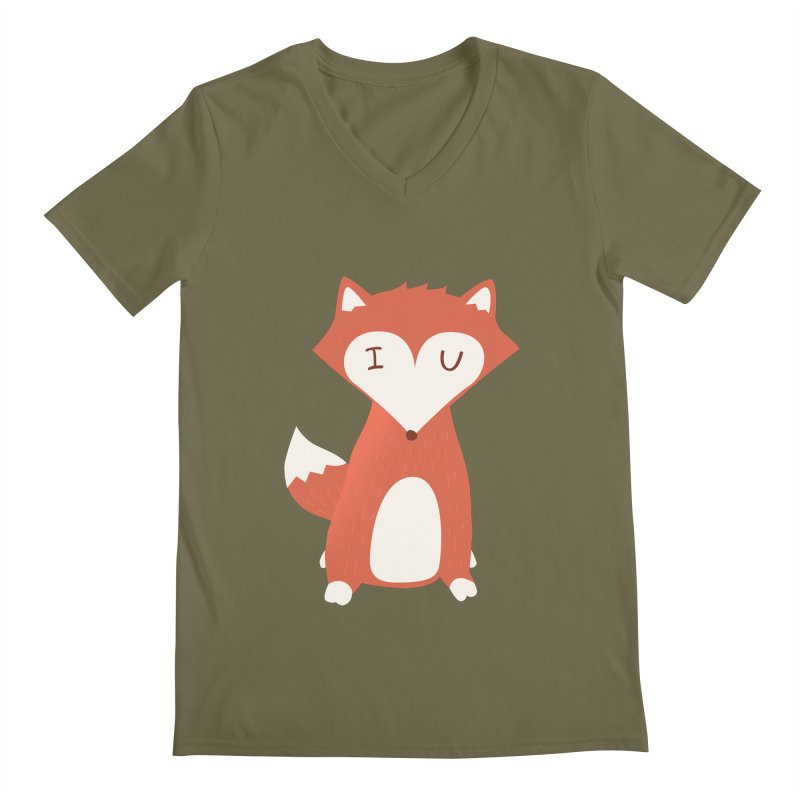A Foxy Proposal Men's V-Neck by agrimony // Aaron Thong